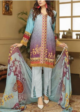 Sanam Saeed by Puri Fabrics Embroidered Viscose Unstitched 3 Piece Suit SS20CK 03 - Winter Collection