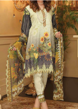 Sanam Saeed by Puri Fabrics Embroidered Viscose Unstitched 3 Piece Suit SS20CK 08 - Winter Collection