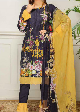 Sanam Saeed by Puri Fabrics Embroidered Viscose Unstitched 3 Piece Suit SS20JV 02 - Winter Collection