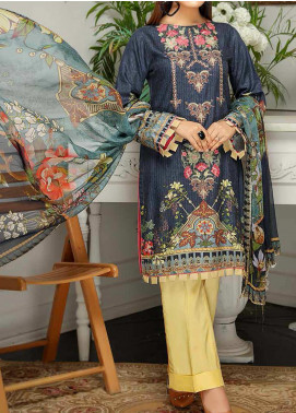 Sanam Saeed by Puri Fabrics Embroidered Viscose Unstitched 3 Piece Suit SS20JV 09 - Winter Collection