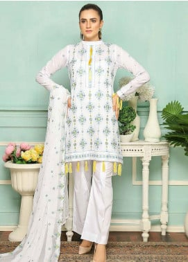 Puri Fabrics Embroidered Lawn Unstitched 3 Piece Suit PF20SE 9 - Spring / Summer Collection