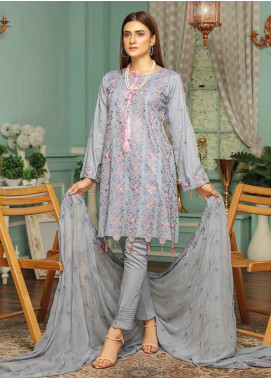 Puri Fabrics Embroidered Lawn Unstitched 3 Piece Suit PF20SE 4 - Spring / Summer Collection