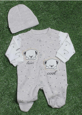Sanaulla Exclusive Range  Fancy Rompers for Boys -  113586 Grey