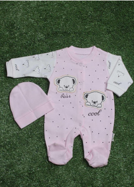Sanaulla Exclusive Range  Fancy Boys Rompers -  113586 Pink