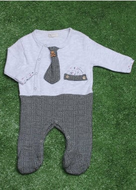 Sanaulla Exclusive Range  Fancy Boys Rompers -  782872 Grey