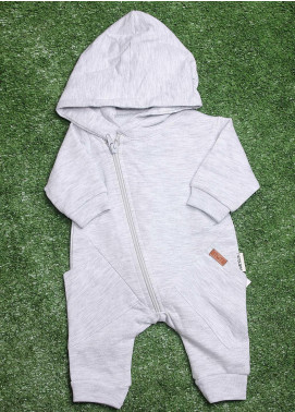 Sanaulla Exclusive Range  Fancy Romper for Boys -  113589 Grey