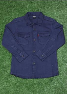 Sanaulla Exclusive Range  Fancy Boys Shirt -  SU20BS  8156 Blue