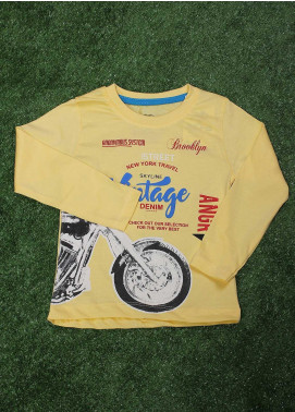 Sanaulla Exclusive Range  Fancy T-Shirt for Boys -  SU20BS 10371 Yellow