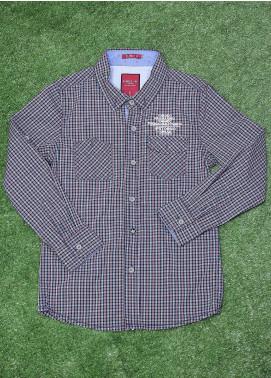 Sanaulla Exclusive Range  Fancy Boys Shirt -  SU20BS SHC166S N/Blue