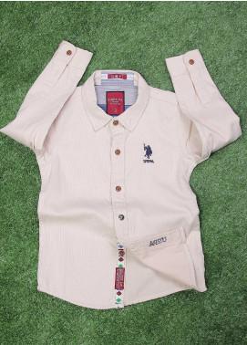 Sanaulla Exclusive Range  Fancy Shirt for Boys -  SU20BS SHC171S Fawn