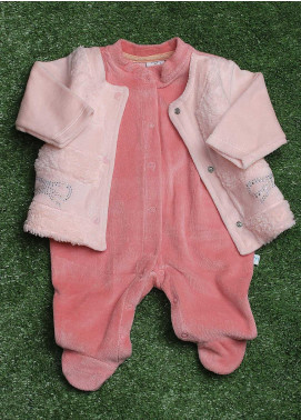 Sanaulla Exclusive Range  Fancy Rompers for Girls -  1104 Pink