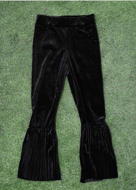 Sanaulla Exclusive Range Fancy Velvet Stitched Tights 2013 Black