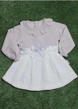 Sanaulla Exclusive Range  Fancy Girls Frocks -  229218 Purple-White