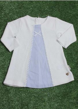 Sanaulla Exclusive Range  Fancy Girls Tops -  229220 White