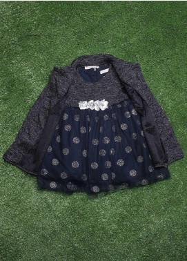 Sanaulla Exclusive Range  Fancy Frocks for Girls -  2883 Grey
