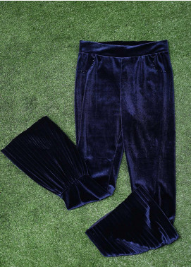 Sanaulla Exclusive Range Fancy Velvet Stitched Tights 3013 N-Blue