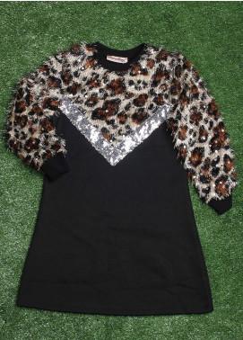 Sanaulla Exclusive Range  Fancy Tops for Girls -  3652 Black