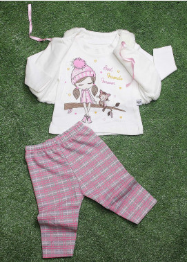 Sanaulla Exclusive Range  Fancy Girls 3 Piece Suit -  5014 White