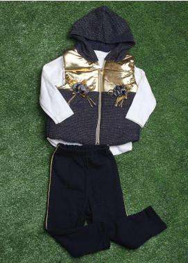 Sanaulla Exclusive Range  Fancy Girls 3 Piece Suit -  90145 Blue