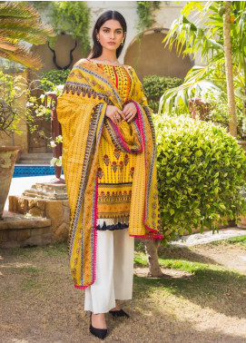 Sanaulla Exclusive Range Printed Lawn Stitched 3 Piece Suit ZS20SI 1B