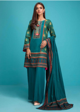 Sanaulla Exclusive Range Printed Lawn Stitched 3 Piece Suit ZS20SI 9B