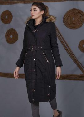 Sanaulla Exclusive Range Parashoot Full Sleeves Long Jackets for Women -  SU20J Coat 5545 Black