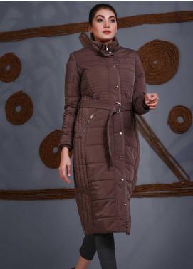Sanaulla Exclusive Range Parashoot Full Sleeves Women Long Jackets -  SU20J Coat 5545 Fawn