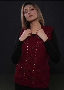 Sanaulla Exclusive Range Fancy Woolen  Sweaters S20SW 253808 - Woolen Women Sweaters