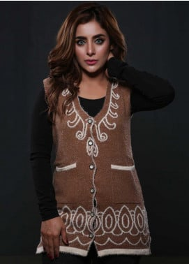 Sanaulla Exclusive Range Fancy Woolen  Sweaters S20SW 253829 - Woolen Women Sweaters