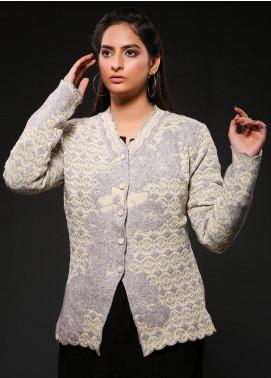 Sanaulla Exclusive Range Embroidered Woolen  Sweaters S20SW 328425 - Woolen Women Sweaters