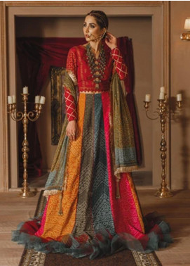 Gul Bano by Sanaya Embroidered Raw Silk Unstitched 3 Piece Suit SN20GB 001 MAHROUSH - Luxury Collection