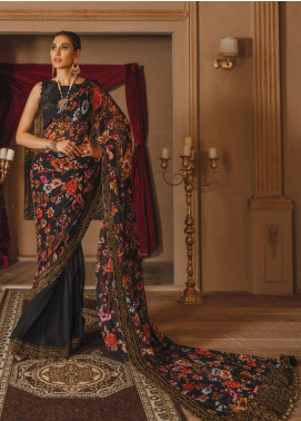 Gul Bano by Sanaya Embroidered Raw Silk Unstitched 3 Piece Suit SN20GB 002 ZEB-UN-NISA - Luxury Collection