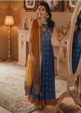 Gul Bano by Sanaya Embroidered Chiffon Unstitched 3 Piece Suit SN20GB 004 ROSHANARA - Luxury Collection