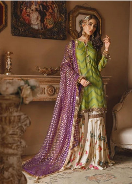 Gul Bano by Sanaya Embroidered Chiffon Unstitched 3 Piece Suit SN20GB 005 ZEENAT - Luxury Collection