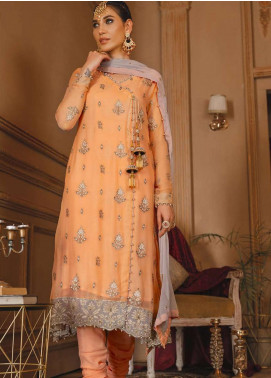 Gul Bano by Sanaya Embroidered Chiffon Unstitched 3 Piece Suit SN20GB 006 GAUHAR - Luxury Collection