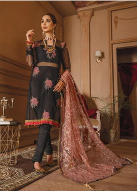 Gul Bano by Sanaya Embroidered Organza Unstitched 3 Piece Suit SN20GB 007 BAGHBAN - Luxury Collection