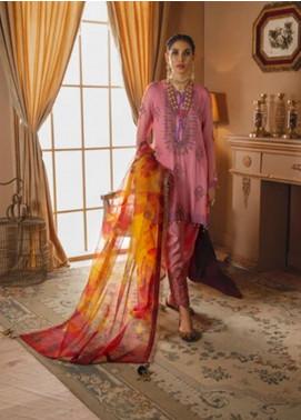 Gul Bano by Sanaya Embroidered Chiffon Unstitched 3 Piece Suit SN20GB 008 MUMTAZ - Luxury Collection