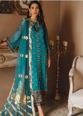 Gul Bano by Sanaya Embroidered Chiffon Unstitched 3 Piece Suit SN20GB 009 IFFAT - Luxury Collection