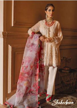 Gul Bano by Sanaya Embroidered Chiffon Unstitched 3 Piece Suit SN20GB 010 SHAHARBANO - Luxury Collection