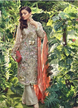 Sanaz by Sable Vogue Embroidered Organza Unstitched 3 Piece Suit SSV19W 05 - Wedding Collection