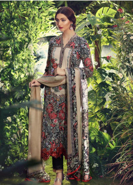 Sanaz by Sable Vogue Embroidered Karandi Unstitched 3 Piece Suit SSV19W 06 - Wedding Collection