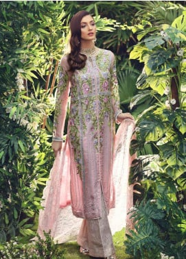 Sanaz by Sable Vogue Embroidered Organza Unstitched 3 Piece Suit SSV19W 07 - Wedding Collection