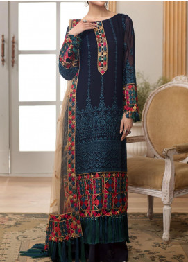 Sangat By Mohagni Embroidered Chiffon Unstitched 3 Piece Suit MO20S 07 - Luxury Collection