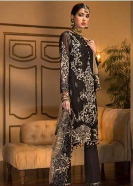Sangeet by Mohagni Embroidered Chiffon Unstitched 3 Piece Suit SMO20C 03 - Luxury Collection