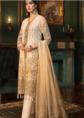 Sangeet by Mohagni Embroidered Chiffon Unstitched 3 Piece Suit SMO20C 05 - Luxury Collection