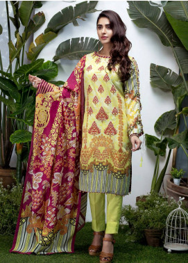 Sanoor Bena by Noor Fatima Embroidered Lawn Unstitched 3 Piece Suit SNO19BL 1024 - Spring / Summer Collection