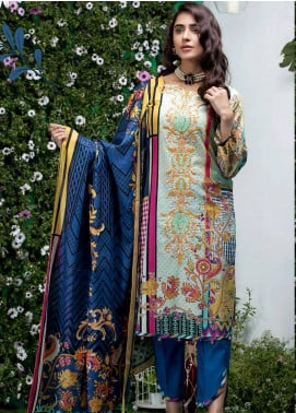 Sanoor Bena by Noor Fatima Embroidered Lawn Unstitched 3 Piece Suit SNO19BL 1027 - Spring / Summer Collection