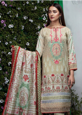 Sanoor Bena by Noor Fatima Embroidered Lawn Unstitched 3 Piece Suit SNO19BL 1029 - Spring / Summer Collection