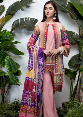 Sanoor Bena by Noor Fatima Embroidered Lawn Unstitched 3 Piece Suit SNO19BL 1031 - Spring / Summer Collection
