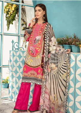 Sanoor by Noor Fatima Embroidered Lawn Unstitched 3 Piece Suit SNO19F 138 - Festive Collection